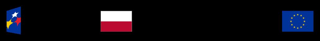 logo z flagami unii europejskiej i Rzeczpospolitek Polskiej