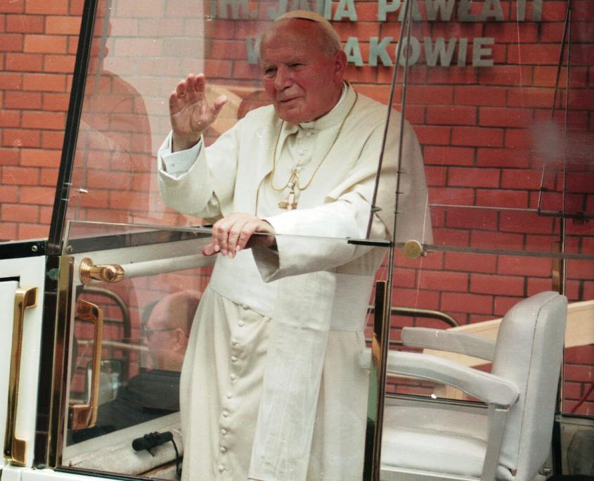 Kolorowe zdjęcie Jana Pawła II, papieża
