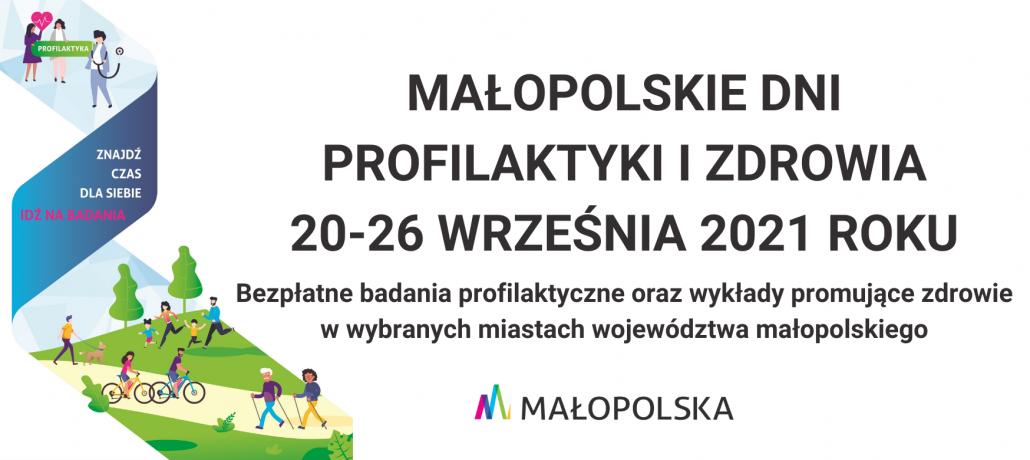 Baner kolorowy Małopolskie dni profilaktyki i zdrowia
